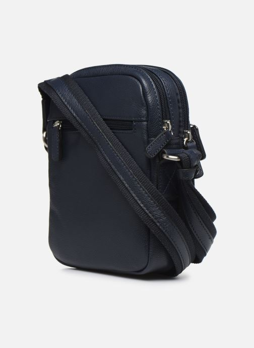 Men's bags Hexagona LEATHER CROSS BODY Blue view from the right