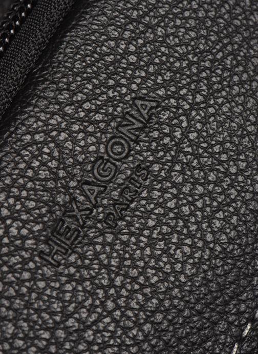 Herrentaschen Hexagona LEATHER CROSS BODY schwarz ansicht von links