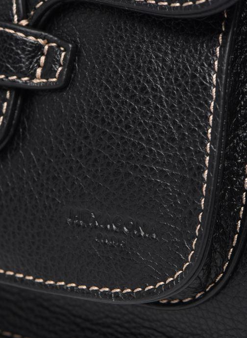 Bolsos de mano Hexagona WILD PORTE EPAULE LEATHER Negro vista lateral izquierda