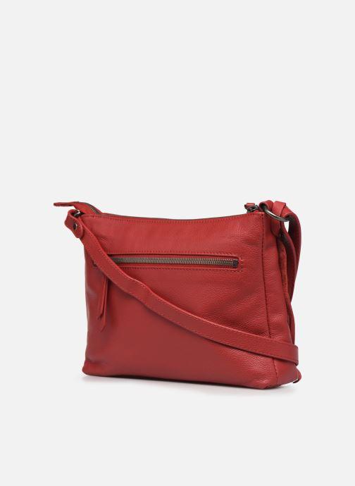 Bolsos de mano Hexagona APPALOOSA CROSSBODY Rojo vista lateral derecha