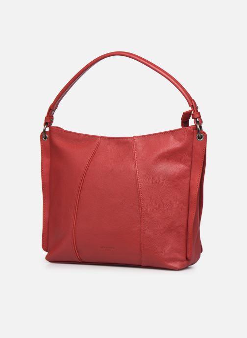 Bolsos de mano Hexagona APPALOOSA PORTE EPAULE Rojo vista del modelo