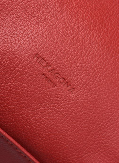 Bolsos de mano Hexagona APPALOOSA PORTE EPAULE Rojo vista lateral izquierda