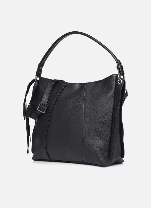 Handtaschen Hexagona APPALOOSA PORTE EPAULE schwarz schuhe getragen