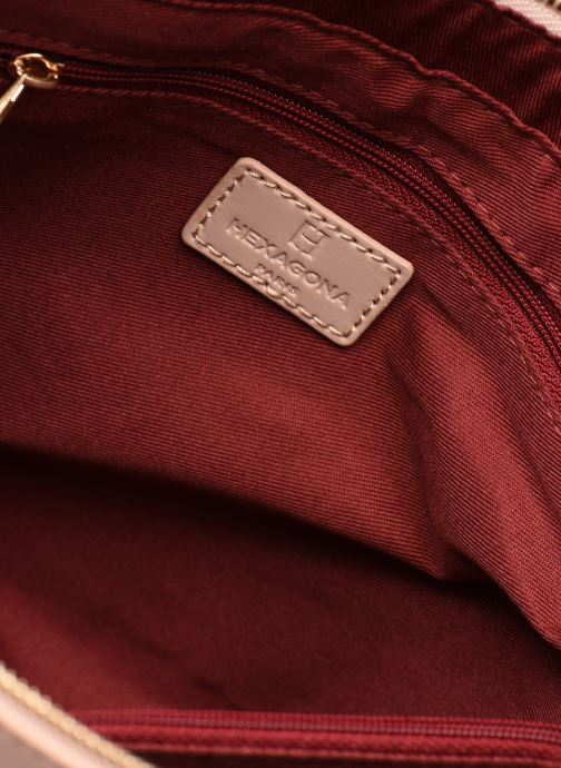 Handtassen Hexagona COSMO PORTE MAIN LEATHER Roze achterkant