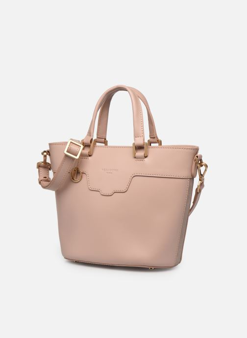 Handtaschen Hexagona COSMO PORTE MAIN LEATHER rosa schuhe getragen