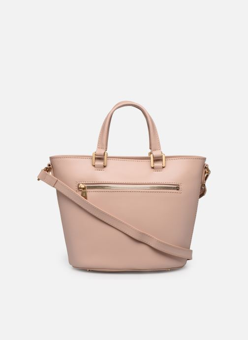 Bolsos de mano Hexagona COSMO PORTE MAIN LEATHER Rosa vista de frente