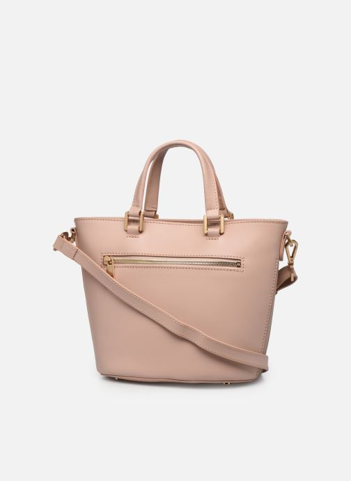 Bolsos de mano Hexagona COSMO PORTE MAIN LEATHER Rosa vista lateral derecha