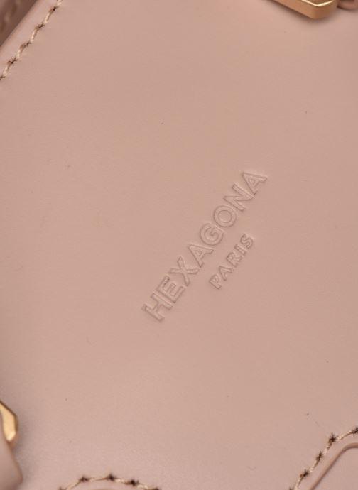 Handtaschen Hexagona COSMO PORTE MAIN LEATHER rosa ansicht von links
