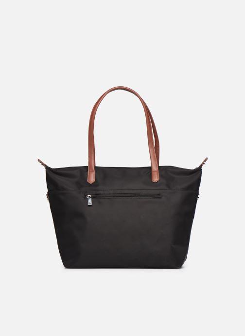 Handtaschen Hexagona Cabas Nylon Porté EPAULE schwarz ansicht von vorne