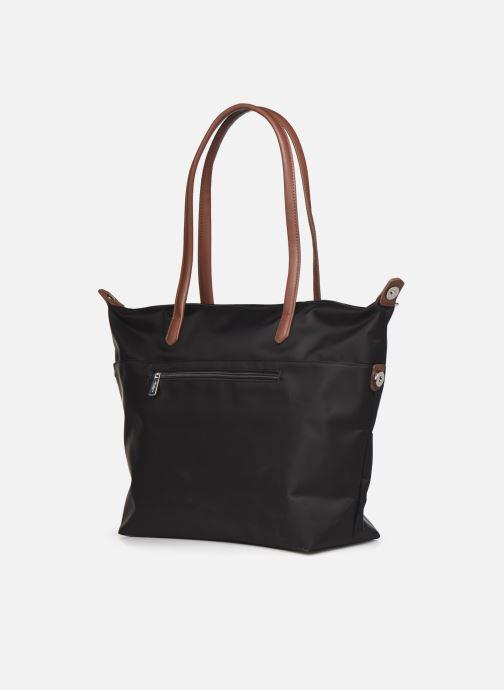 Handtaschen Hexagona Cabas Nylon Porté EPAULE schwarz ansicht von rechts