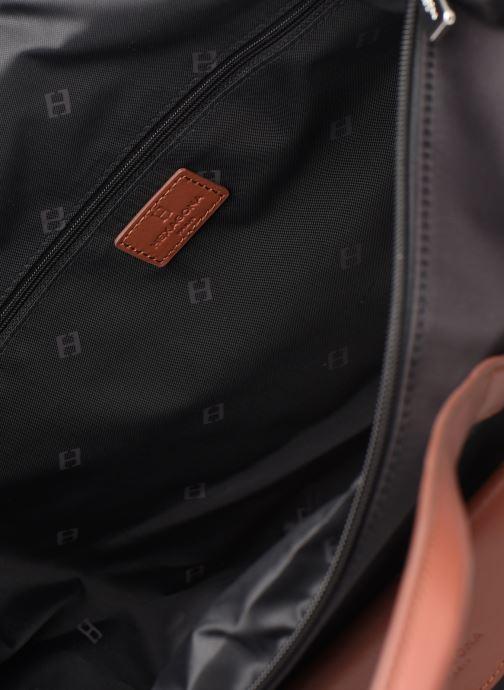 Handtaschen Hexagona Cabas Nylon Porté EPAULE schwarz ansicht von hinten