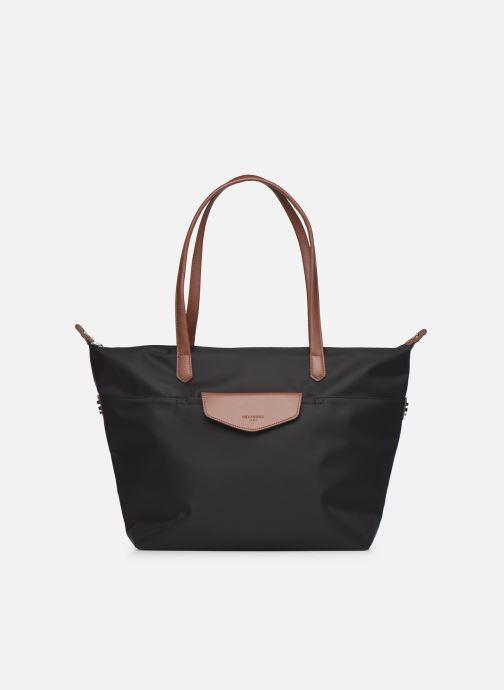 Handtaschen Hexagona Cabas Nylon Porté EPAULE schwarz detaillierte ansicht/modell