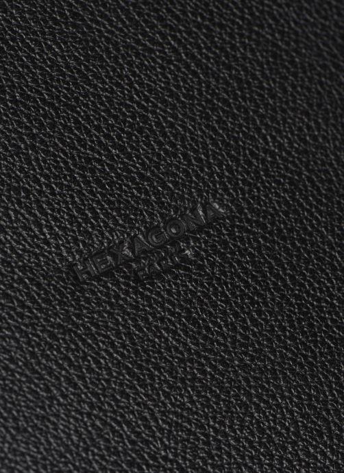 Sacs ordinateur Hexagona PORTE ORDINATEUR LEATHER A4 15' Noir vue gauche