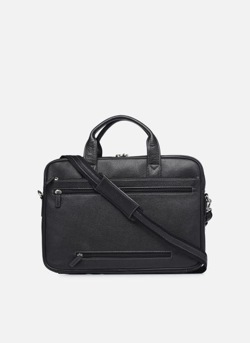 Laptoptaschen Hexagona PORTE ORDINATEUR LEATHER A4 15' schwarz ansicht von vorne