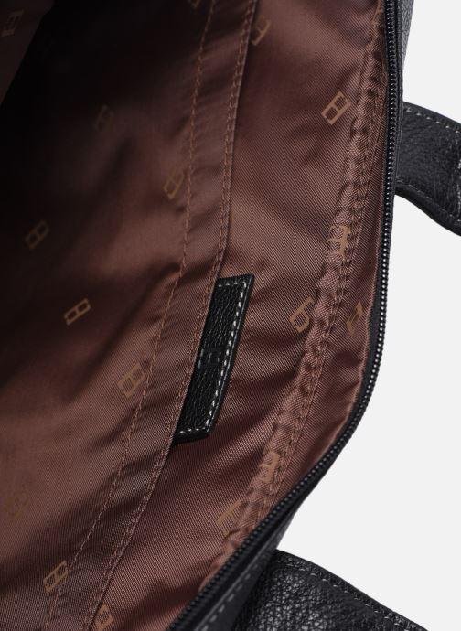 Laptoptaschen Hexagona PORTE ORDINATEUR LEATHER A4 15' schwarz ansicht von hinten