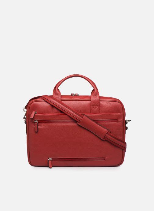 Laptoptaschen Hexagona PORTE ORDINATEUR LEATHER A4 15' rot ansicht von vorne
