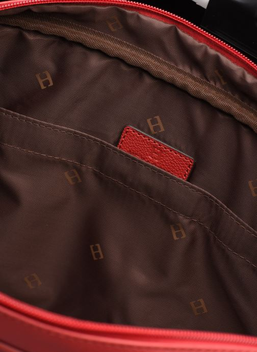 Laptoptaschen Hexagona PORTE ORDINATEUR LEATHER A4 15' rot ansicht von hinten
