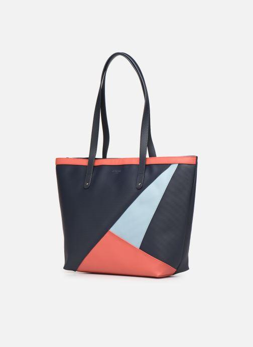 Bolsos de mano Hexagona GRAPHIC SHOPPING BAG Azul vista del modelo