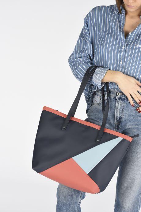Bolsos de mano Hexagona GRAPHIC SHOPPING BAG Azul vista de abajo