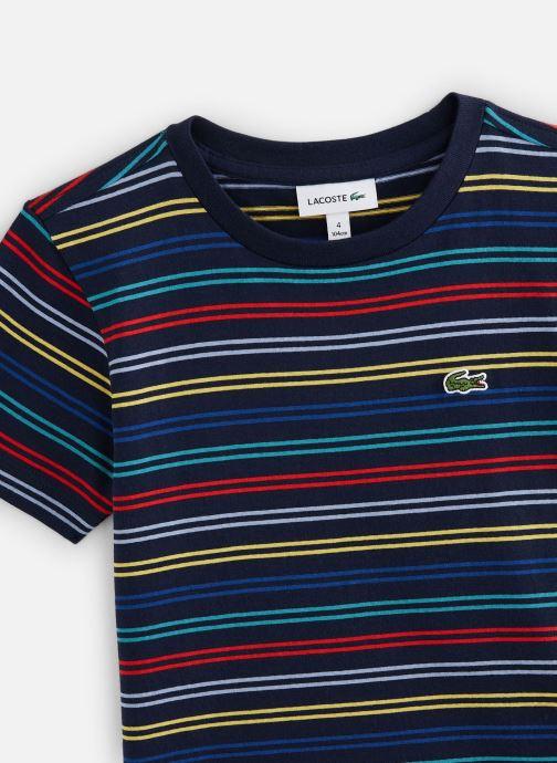 Vêtements Lacoste Tee-Shirt Enfant 1 Multicolore vue portées chaussures