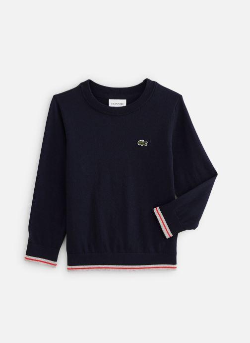 Kleding Lacoste Pull Enfant N Blauw detail