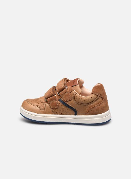 Sneaker Geox B Trottola Boy B0243A braun ansicht von vorne