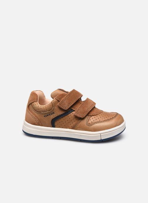 Sneaker Geox B Trottola Boy B0243A braun ansicht von hinten