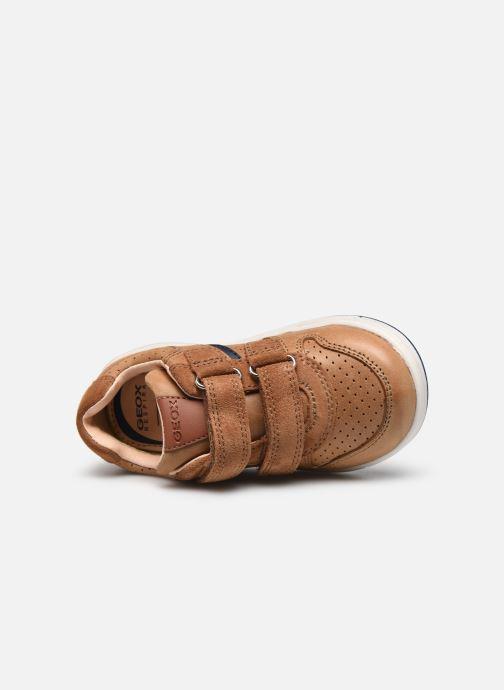 Sneaker Geox B Trottola Boy B0243A braun ansicht von links