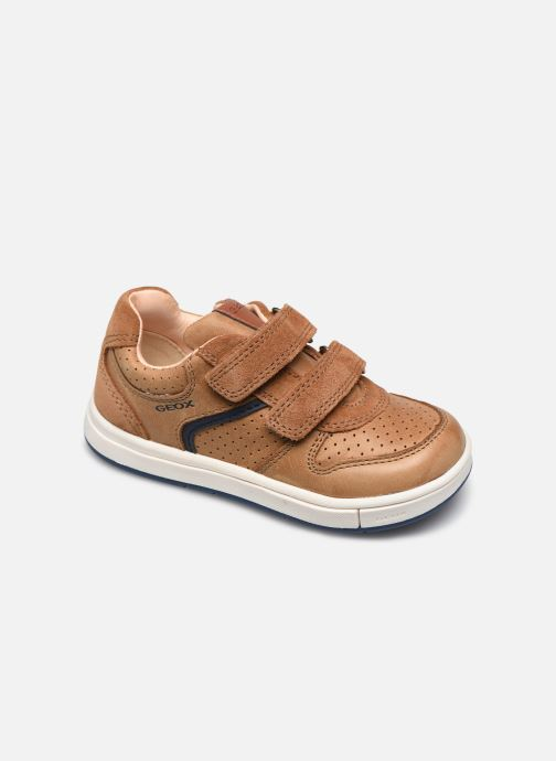 Trainers Geox B Trottola Boy B0243A Brown detailed view/ Pair view