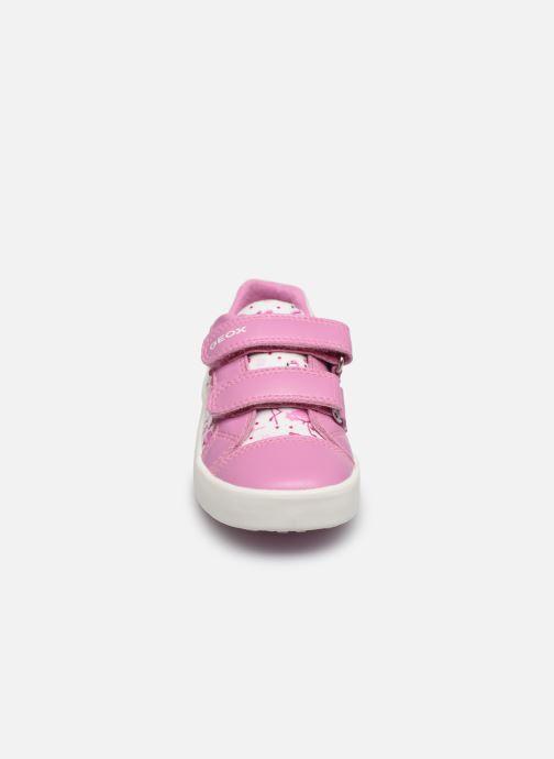 Baskets Geox B Kilwi Girl B02D5A Rose vue portées chaussures