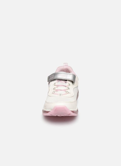 Baskets Geox J Android Girl J0245A Argent vue portées chaussures