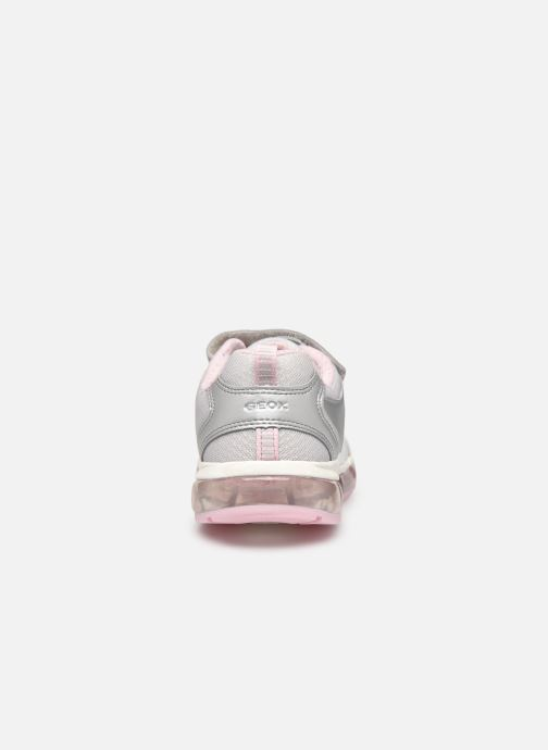 Trainers Geox J Android Girl J0245A Silver view from the right