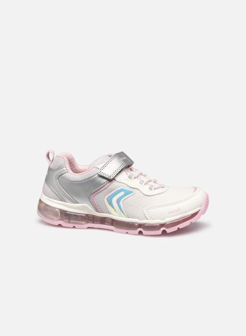 Trainers Geox J Android Girl J0245A Silver back view
