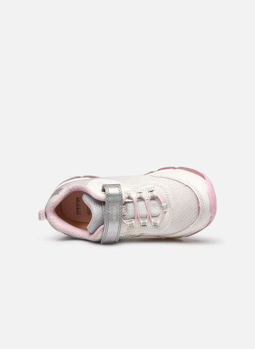 Trainers Geox J Android Girl J0245A Silver view from the left