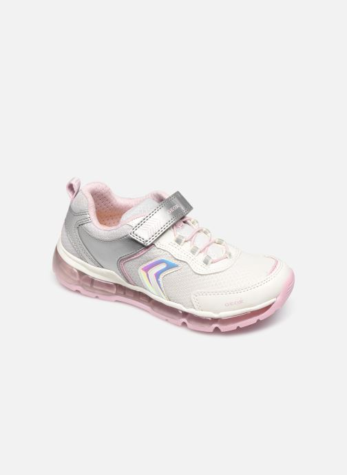 Trainers Geox J Android Girl J0245A Silver detailed view/ Pair view