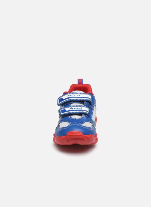 Baskets Geox J Munfrey Boy J024BC Bleu vue portées chaussures