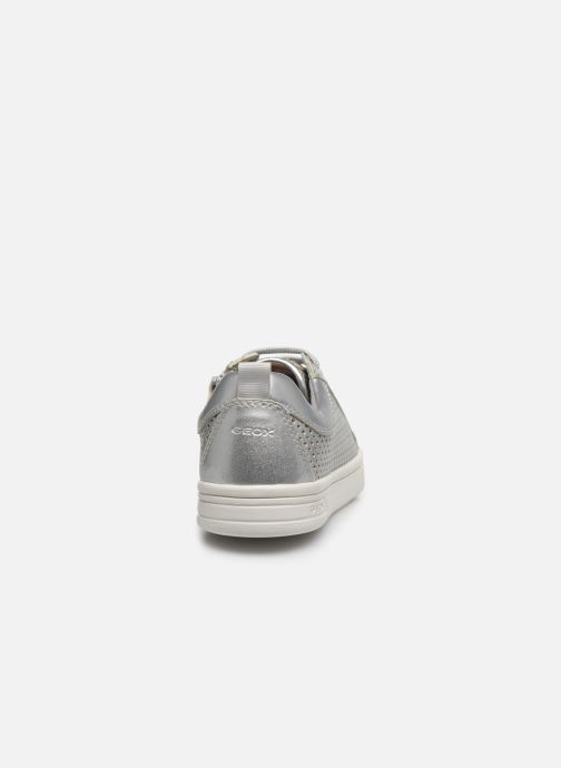 Trainers Geox J Djrock Girl J024MA Silver view from the right
