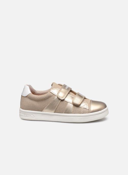 Sneakers Geox J Djrock Girl J024MC Oro e bronzo immagine posteriore
