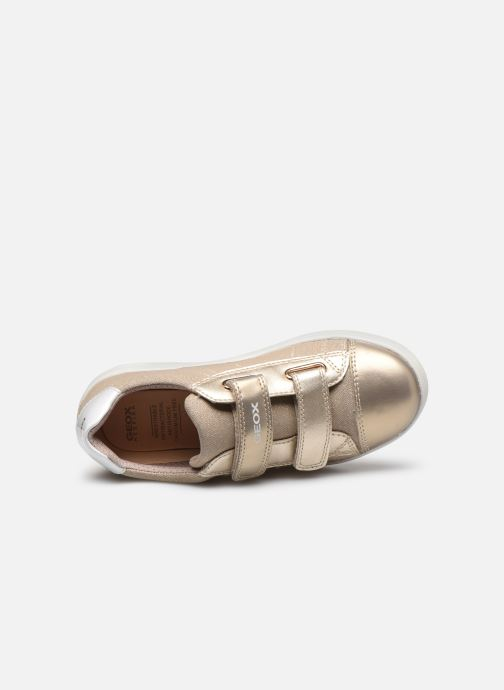 Sneakers Geox J Djrock Girl J024MC Oro e bronzo immagine sinistra