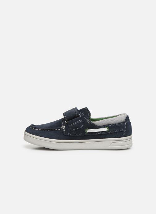 Chaussures à lacets Geox J Djrock Boy J025VA Bleu vue face