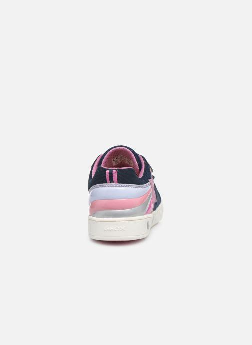 Baskets Geox J Skylin Girl J028WC Bleu vue droite