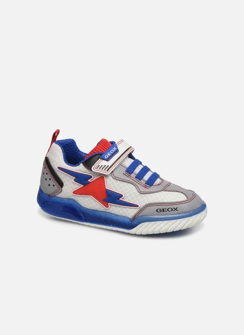 Baskets Geox J Inek Boy J029CB Blanc vue détail/paire