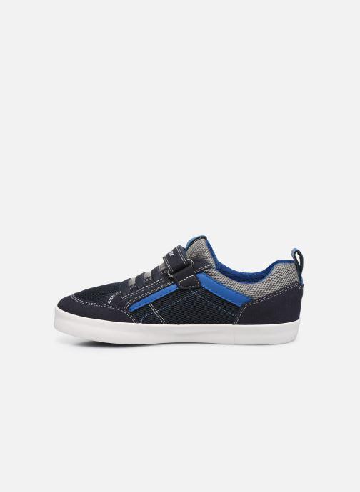 Sneaker Geox J Kilwi Boy J02A7E blau ansicht von vorne