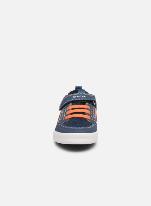 Sneaker Geox J Kilwi Boy J02A7E blau schuhe getragen