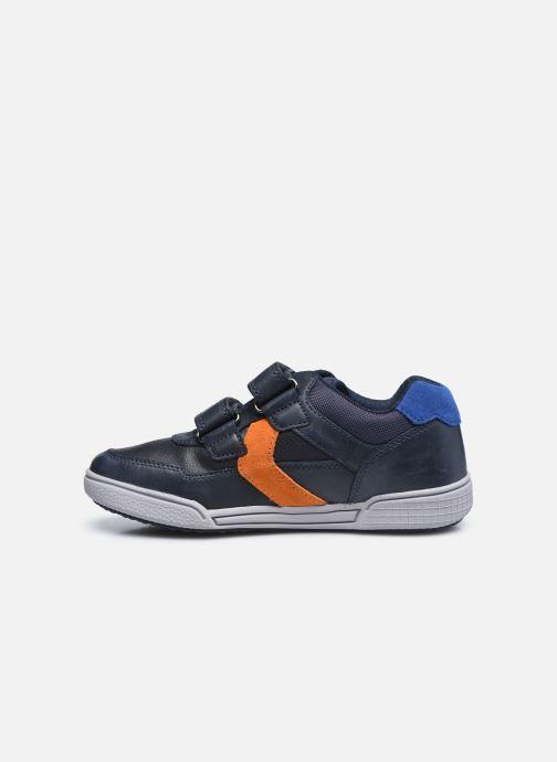 Sneaker Geox J Poseido Boy J02BCA blau ansicht von vorne
