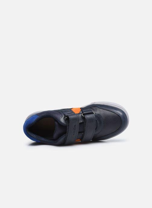 Sneaker Geox J Poseido Boy J02BCA blau ansicht von links