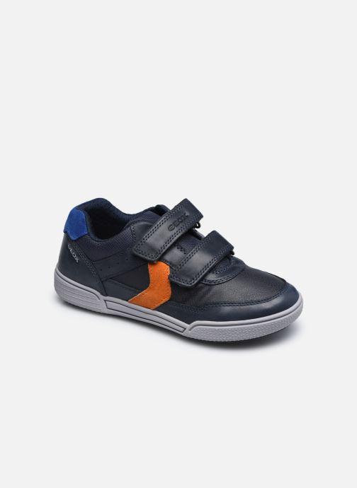 Sneaker Geox J Poseido Boy J02BCA blau detaillierte ansicht/modell
