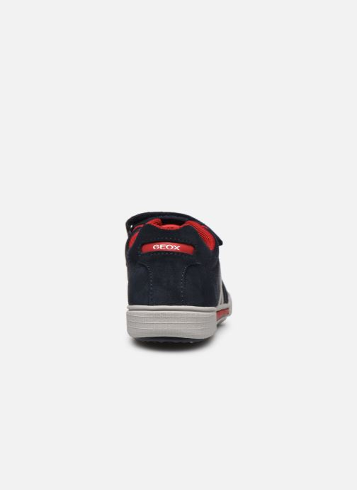Trainers Geox J Poseido Boy J02BCD Blue view from the right