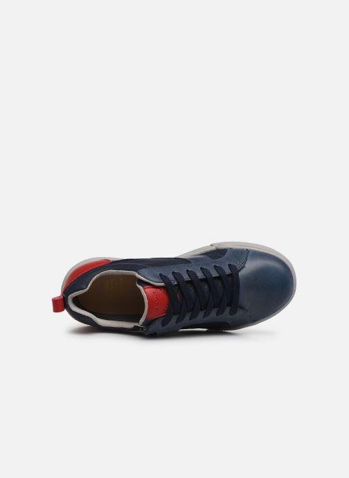 Trainers Geox J Poseido Boy J02BCE Blue view from the left