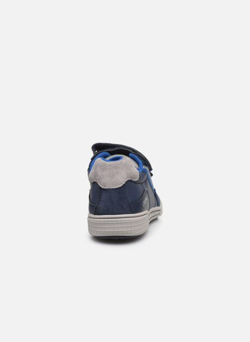 Baskets Geox J Poseido Boy J02BCF Bleu vue droite